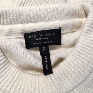 Rag & Bone cream crew neck cashmere sweater